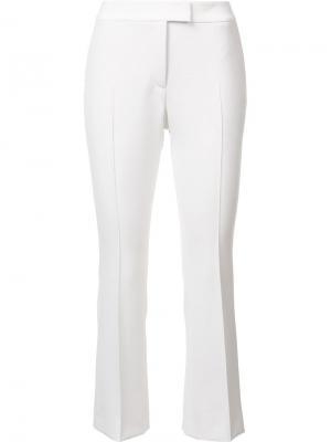Укороченные строгие брюки Akris Punto. Цвет: белый