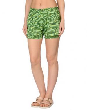 Пляжные брюки и шорты MARZIA GENESI SEA. Цвет: кислотно-зеленый