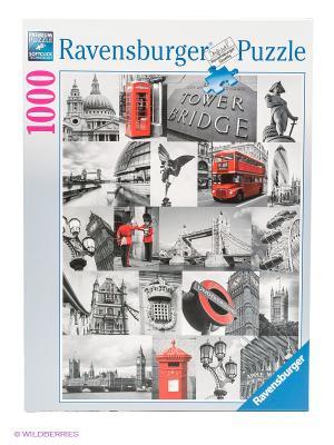 Пазл Лондон в картинках, 1000 шт Ravensburger. Цвет: белый, голубой, красный, серый, синий