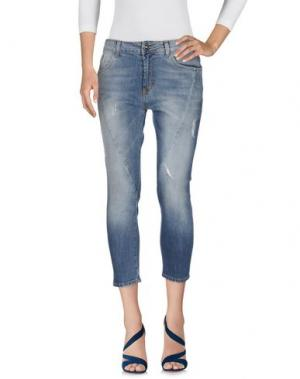 Джинсовые брюки-капри DIVE DIVINE. Цвет: синий