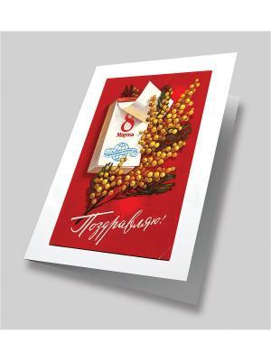Набор для создания открытки С 8 марта! Матренин Посад. Цвет: красный, белый, желтый