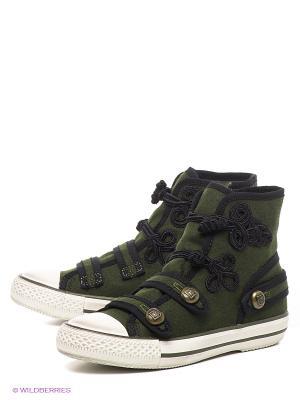 Кеды ASH. Цвет: зеленый, черный