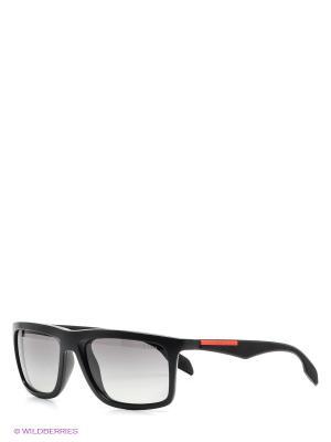 Очки солнцезащитные SLICE Prada Linea Rossa. Цвет: черный