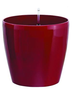 GREEN APPLE Круглый горшок с автополивом на колесиках 45*45*42 красный. Цвет: красный