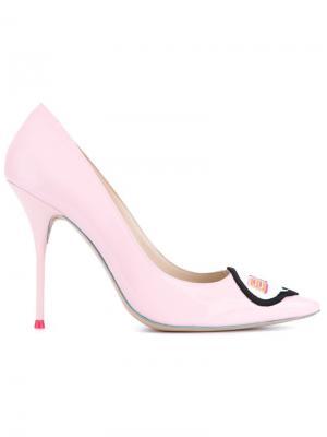 Лакированные туфли-лодочки Boss Lady Sophia Webster. Цвет: розовый и фиолетовый