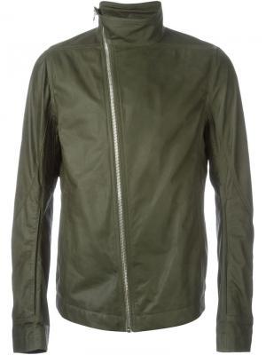 Байкерская куртка Mollinos Rick Owens. Цвет: зелёный