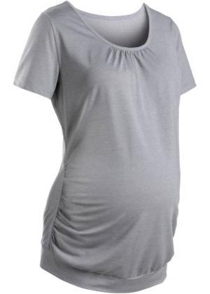 Для будущих мам: спортивная футболка (лилово-синий/белый меланж) bonprix. Цвет: лилово-синий/белый меланж