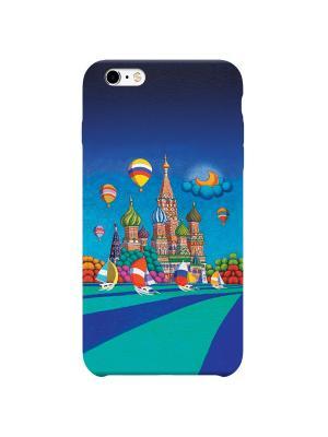 Чехол для iPhone 6/6S Москва Дерево Счастья. Цвет: синий