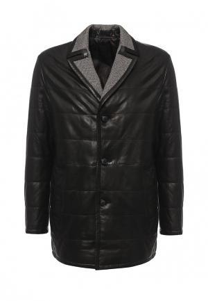 Куртка кожаная Mondial. Цвет: черный