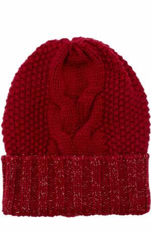 Кашемировая шапка фактурной вязки Kashja` Cashmere. Цвет: бордовый