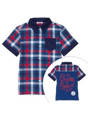 Рубашка NinoMio. Цвет: темно-синий