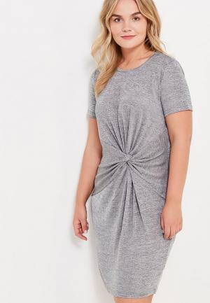 Платье Violeta by Mango. Цвет: серый