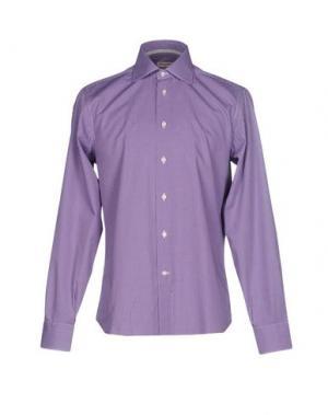 Pубашка ANGELO NARDELLI. Цвет: фиолетовый