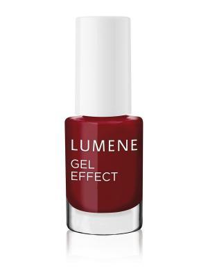 Лак для ногтей с гелевым эффектом №19 Lumene. Цвет: темно-красный