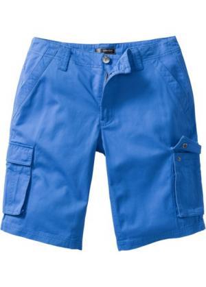 Бермуды-карго Loose Fit (ледниково-синий) bonprix. Цвет: ледниково-синий