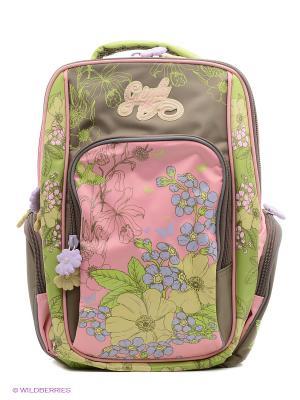 Рюкзак Grizzly. Цвет: зеленый, розовый