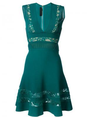 Платье с вышивкой Elie Saab. Цвет: зелёный