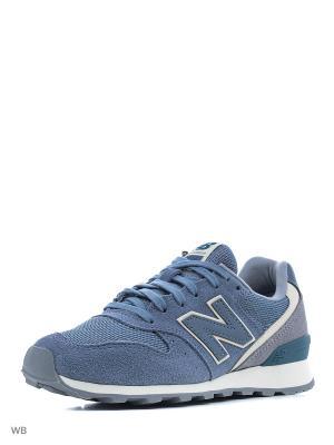 Кроссовки NEW BALANCE 996 TEXTILE. Цвет: голубой