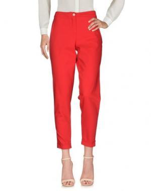 Повседневные брюки GARCIA JEANS. Цвет: красный
