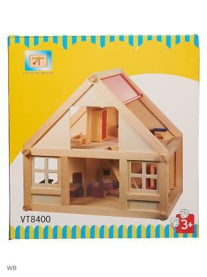 Кукольный дом Винтик и Шпунтик. Цвет: красный, бежевый