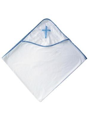 Крестильная пеленка с уголком Дашенька. Цвет: голубой