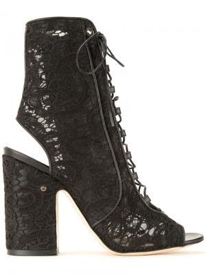 Босоножки на шнуровке Laurence Dacade. Цвет: чёрный