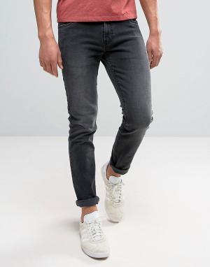 Farah Темно-серые джинсы слим Drake. Цвет: серый