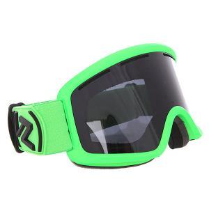 Маска для сноуборда  Beefy Lime Matte/Black Chrome Von Zipper. Цвет: черный,зеленый