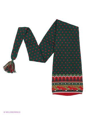Шапка-шарф Scandica. Цвет: темно-зеленый, темно-красный