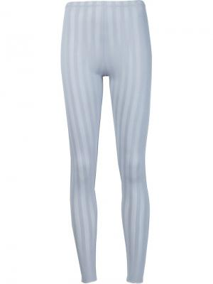 Леггинсы Relax Stripe Pleats Please By Issey Miyake. Цвет: серый