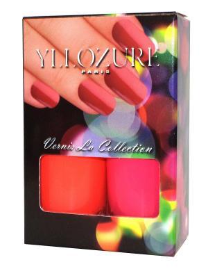 Подарочный набор лаков YLLOZURE ИЛЛОЗУР. Цвет: оранжевый, розовый