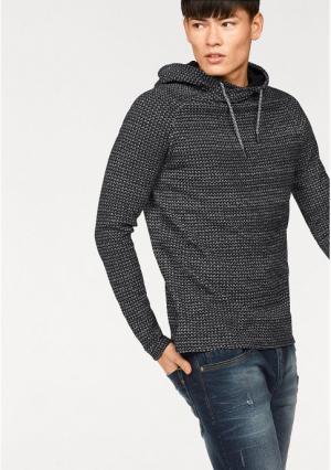 Пуловер JOHN DEVIN. Цвет: черный/белый меланжевый