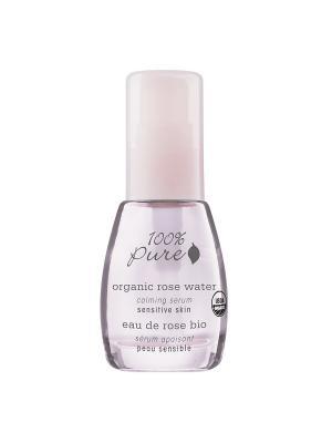 Коллекция Розовая вода: Органическая успокаивающая сыворотка для лица. 100% Pure. Цвет: прозрачный