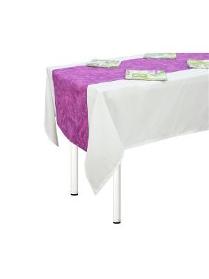 Комплект Прованс дорожка и салфетки 4 шт T&I. Цвет: лиловый