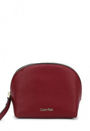 Косметичка Calvin Klein Jeans. Цвет: бордовый