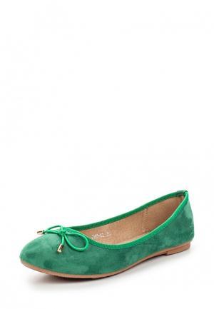 Балетки Diamantique. Цвет: зеленый