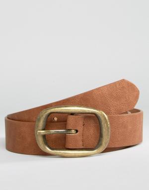 ASOS Ремень для джинсов с прямоугольной пряжкой. Цвет: рыжий