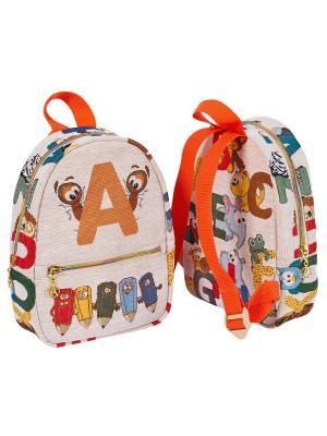 Рюкзак из водоотталкивающего гобелена Английские буквы Якимок. Цвет: светло-бежевый