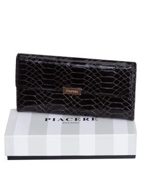 Кошелек женский PF103 0248 115 натуральная кожа Piacere. Цвет: черный