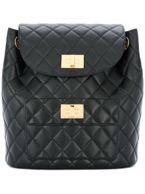 Quilted backpack Designinverso. Цвет: чёрный