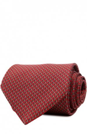 Шелковый комплект из галстука и платка Lanvin. Цвет: красный