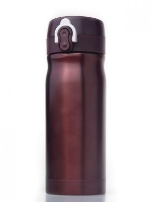 Термостакан QUICK OPEN, коричневый металлик, 350 мл WOODSURF. Цвет: коричневый