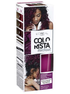 Смываемый красящий бальзам для волос Colorista Washout, оттенок Волосы Бургунди, 80 мл L'Oreal Paris. Цвет: темно-красный