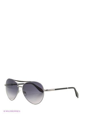 Солнцезащитные очки BLD 1617 101 Baldinini. Цвет: темно-серый, черный