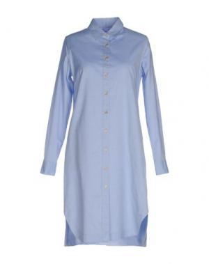 Платье до колена GUGLIELMINOTTI. Цвет: небесно-голубой