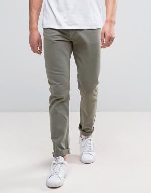 Weekday Зеленые зауженные джинсы Friday. Цвет: зеленый