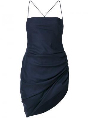 Платье Saudade со сборками Jacquemus. Цвет: синий