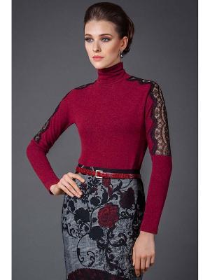 Блузка Арт-Деко. Цвет: бордовый