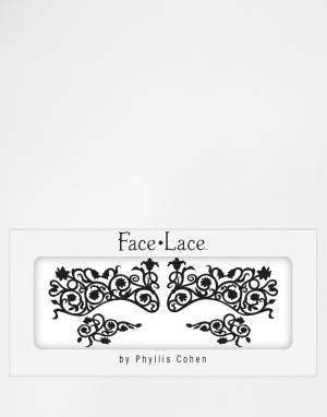 Facelace Маска с крупным кружевным узором Face Lace Halloween. Цвет: fluerty