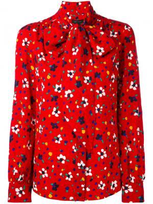 Блузка с цветочным принтом Marc Jacobs. Цвет: красный
